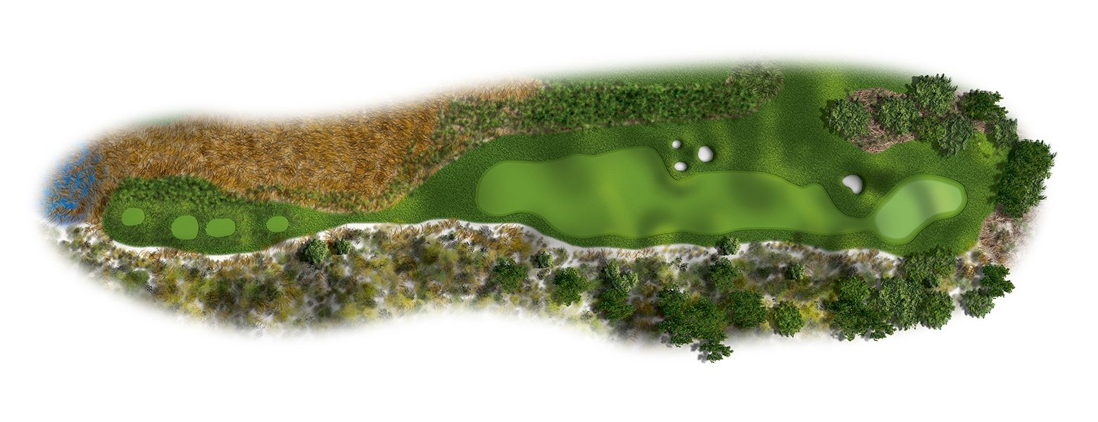The Links at Spanish Bay golf course hole layout 09SB2016