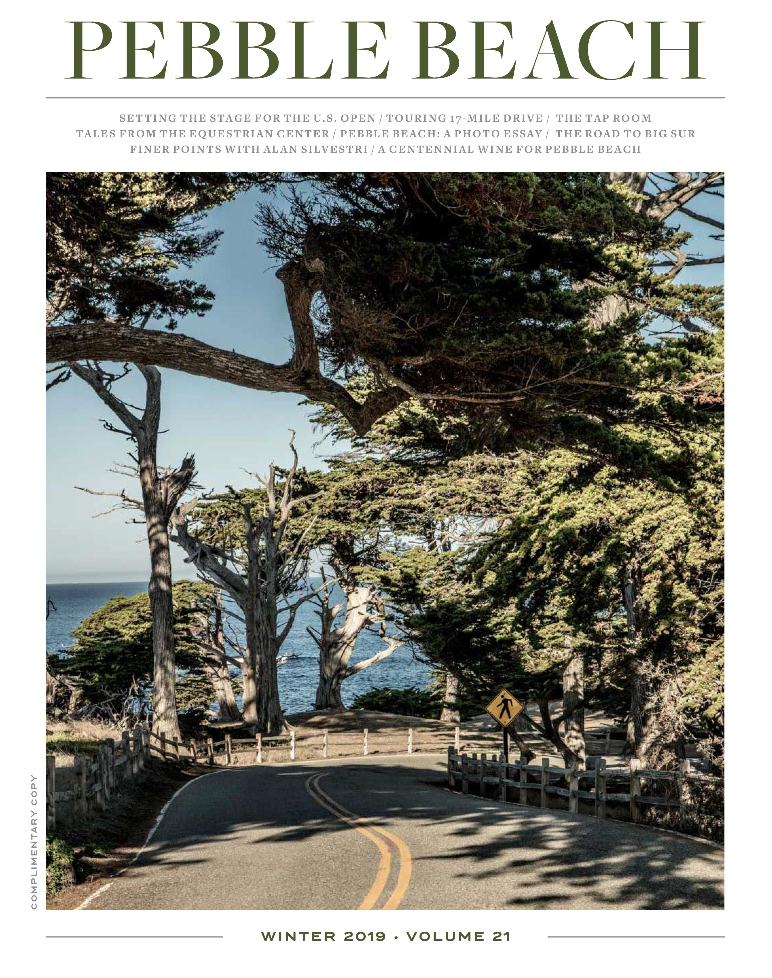 Winter 2019 Pebble Beach The Magazine cover