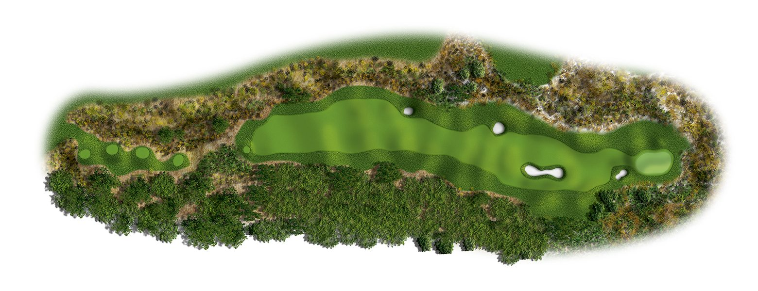 The Links at Spanish Bay golf course hole layout 14sb2016-ed