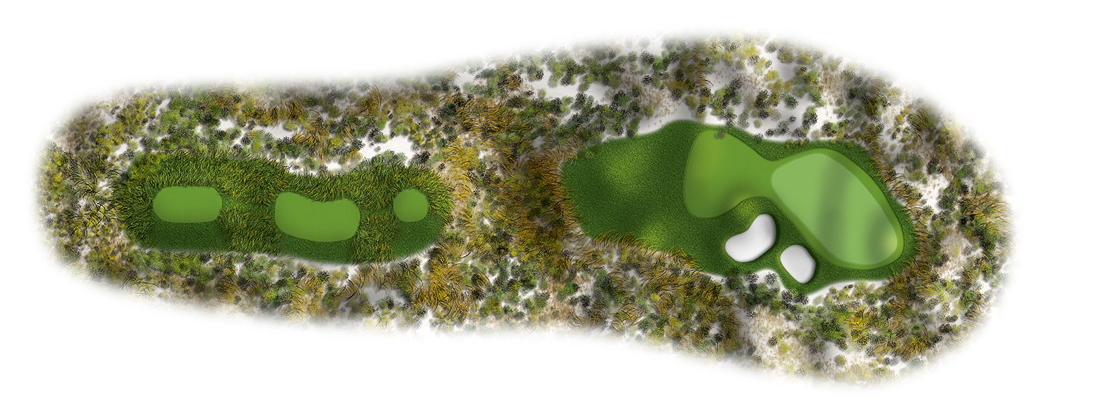 The Links at Spanish Bay golf course hole layout 16sb2016-ed