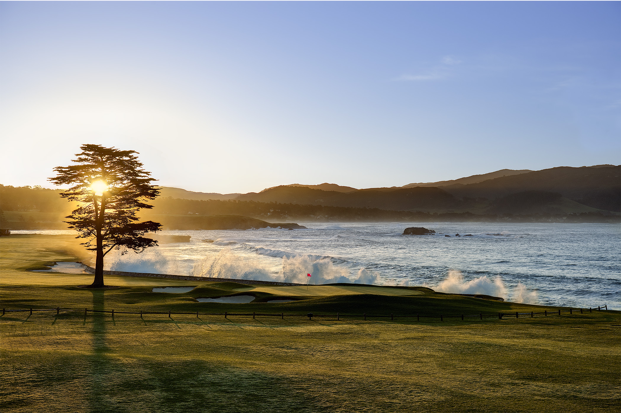 Sunrise over Stillwater Cove