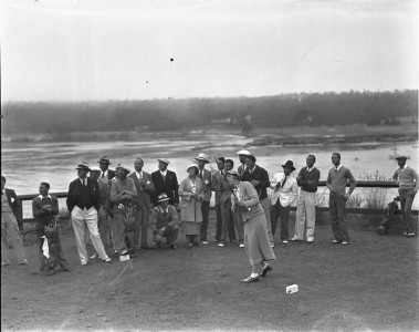 Joyce Wethered golfing