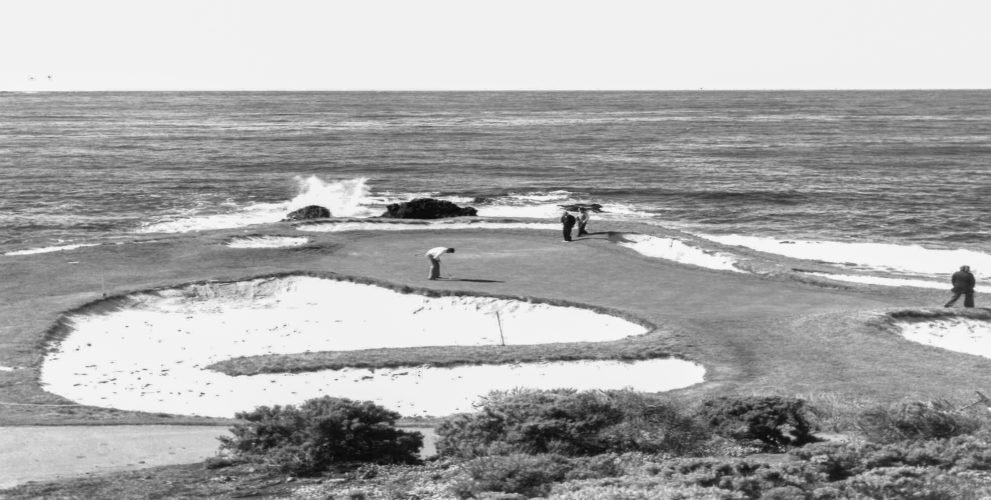 The bunkers had a steep and rugged look in 1977, the year Pebble Beach hosted its only PGA Championship.