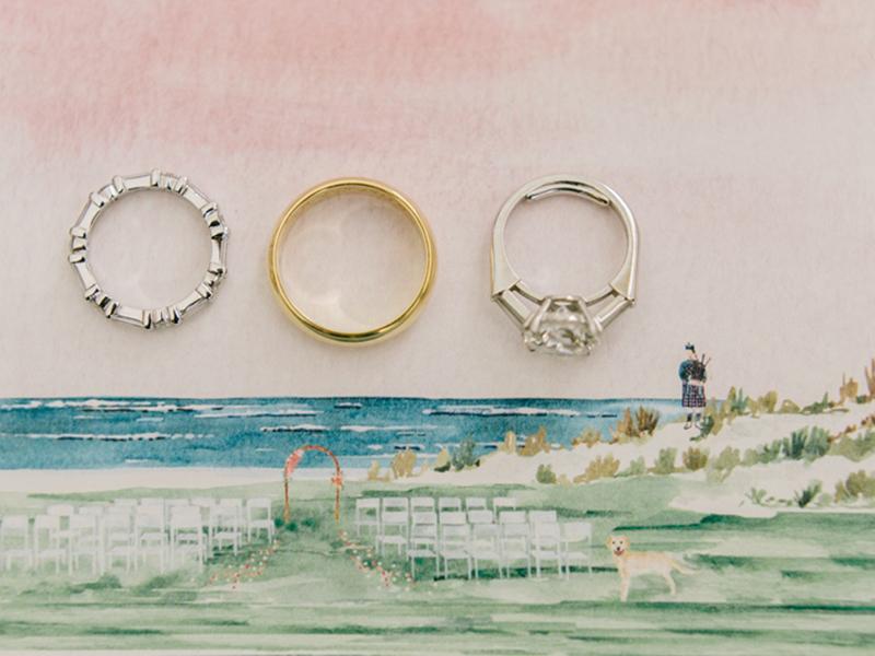 Lineup of wedding rings