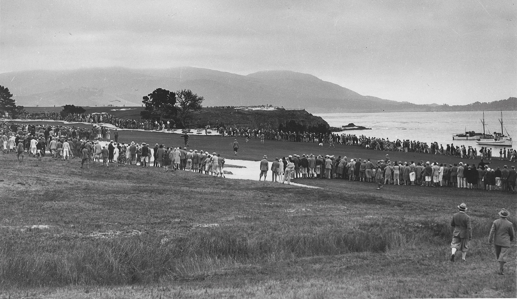 4th hole at Pebble Beach during 1929 U.S. Amateur