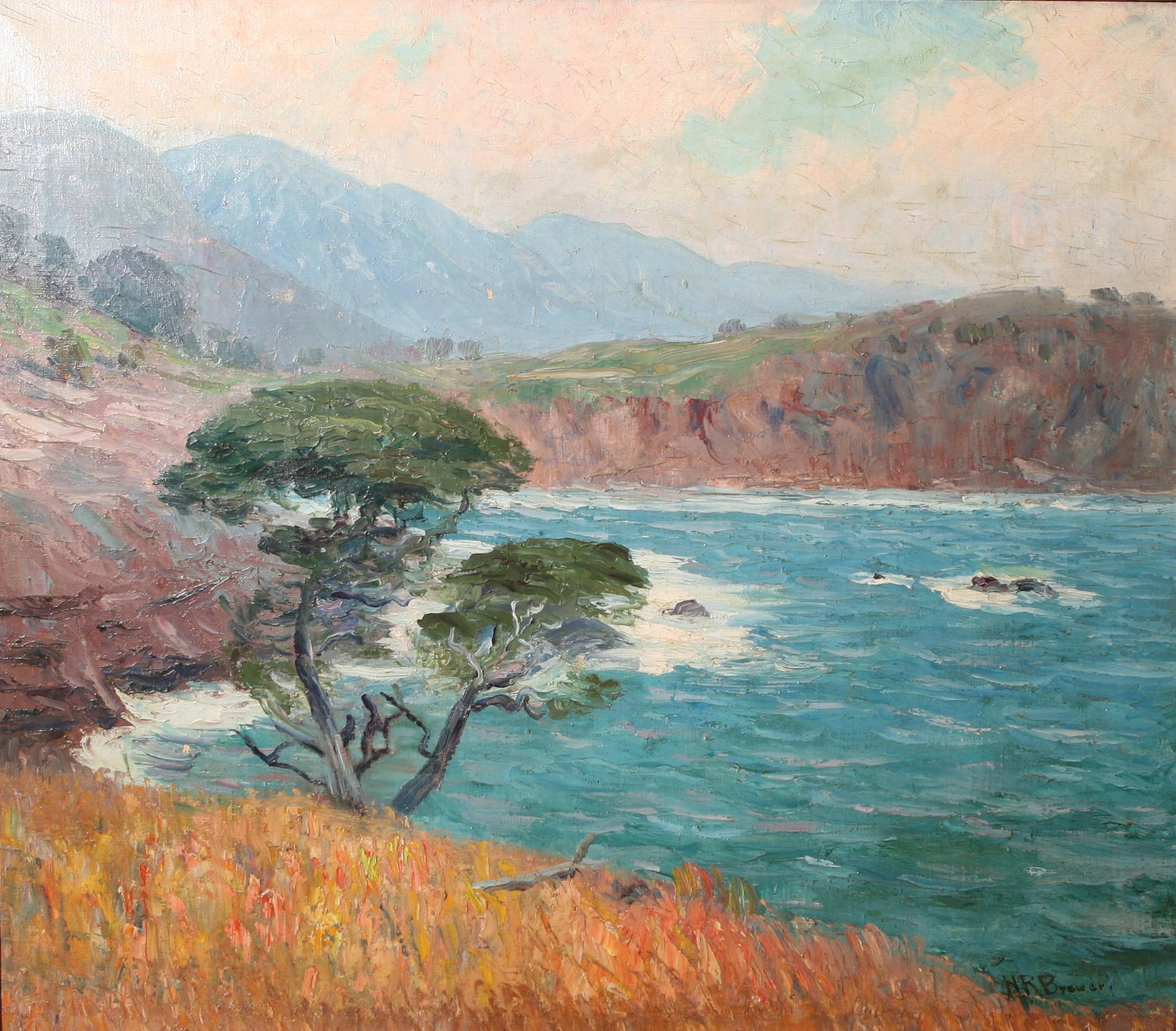 Monterey Shore painting by Henry Joseph Breuer