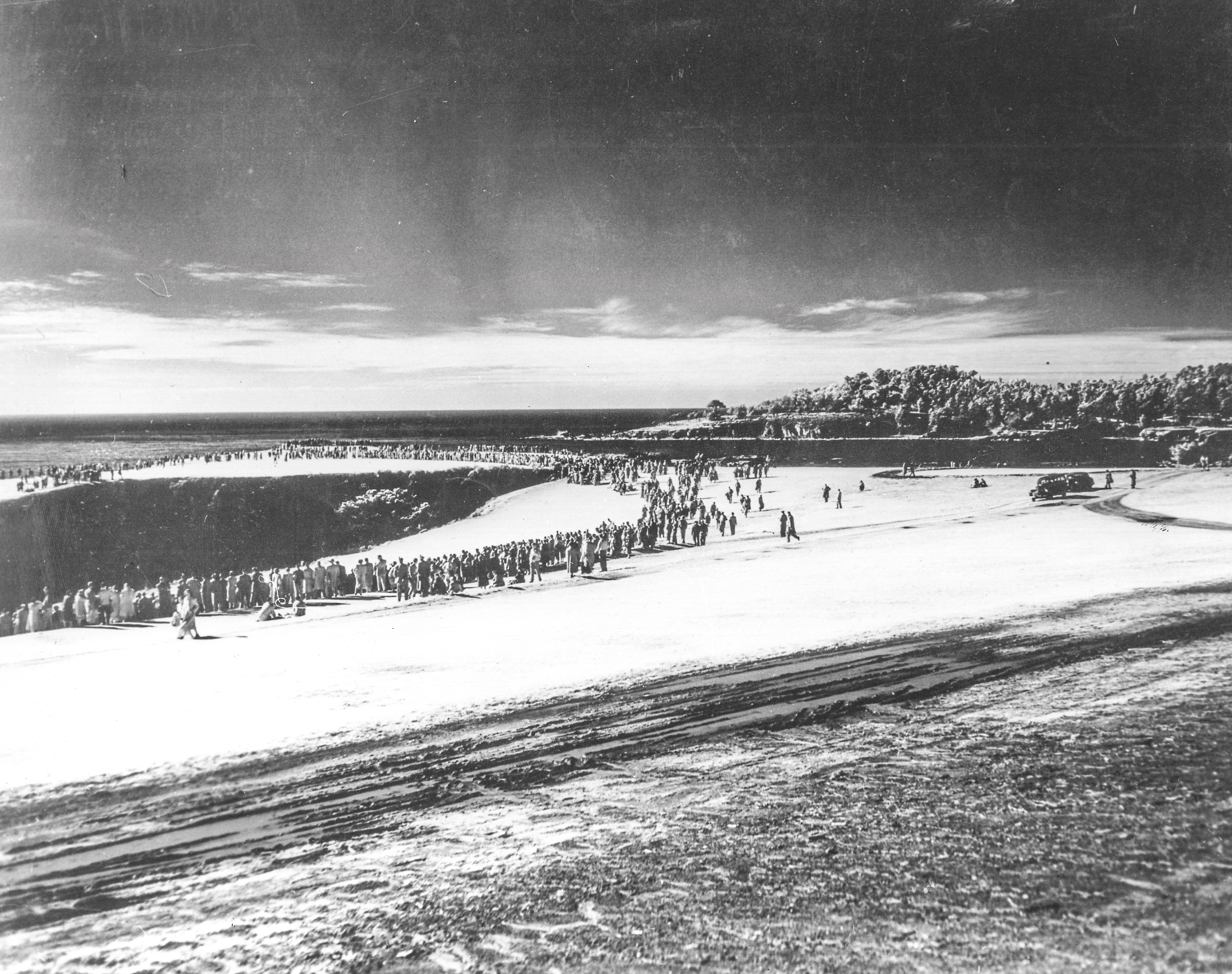 Snow at the 1962 Bing Crosby on the 8th hole