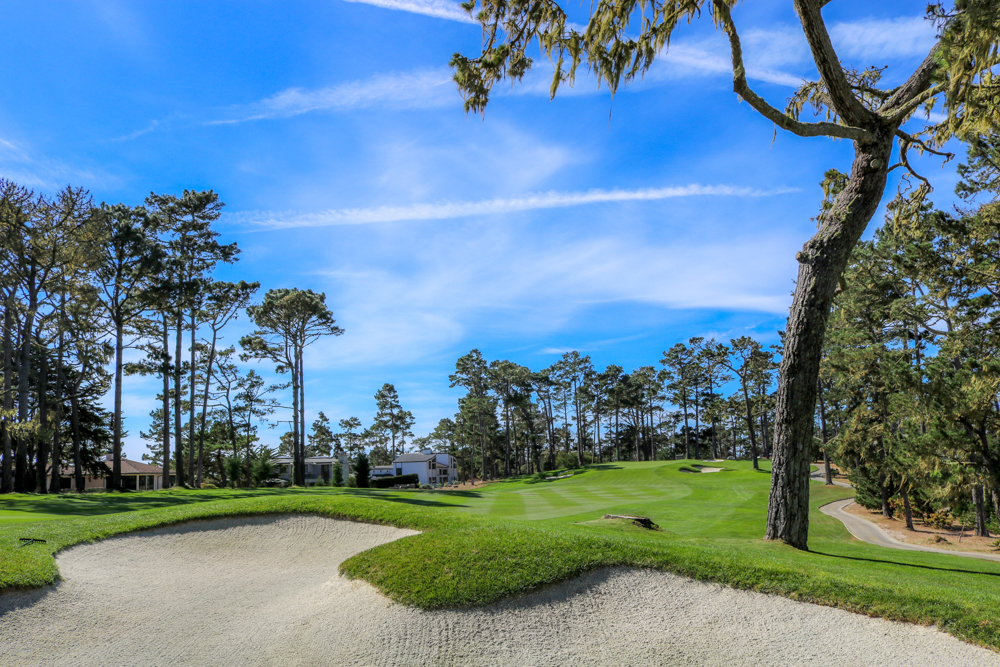 The 18th hole at Spyglass Hill