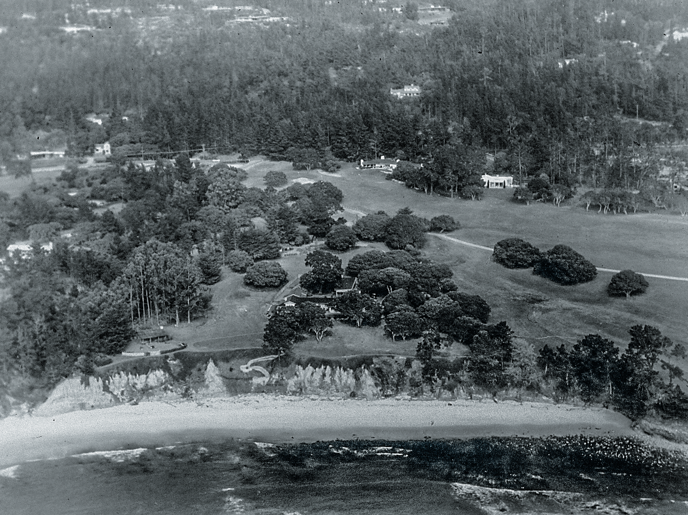 Aerial of original fifth hole