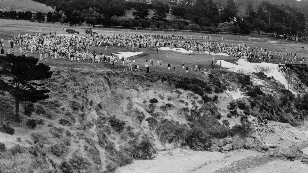 8th hole at Pebble Beach 1929