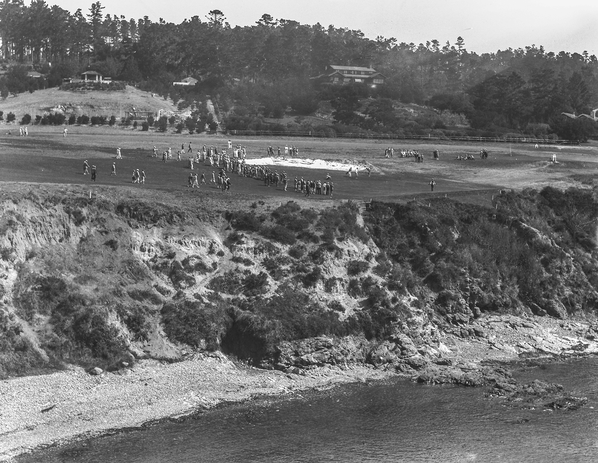 Early eighth green at Pebble Beach