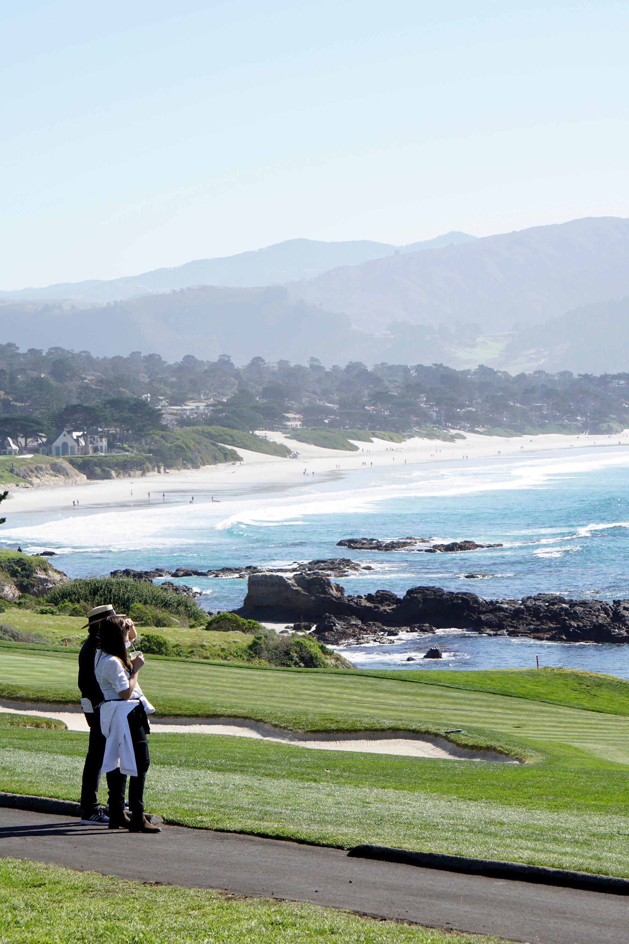 AT&T Pebble Beach Pro-Am Spectators enjoy the view