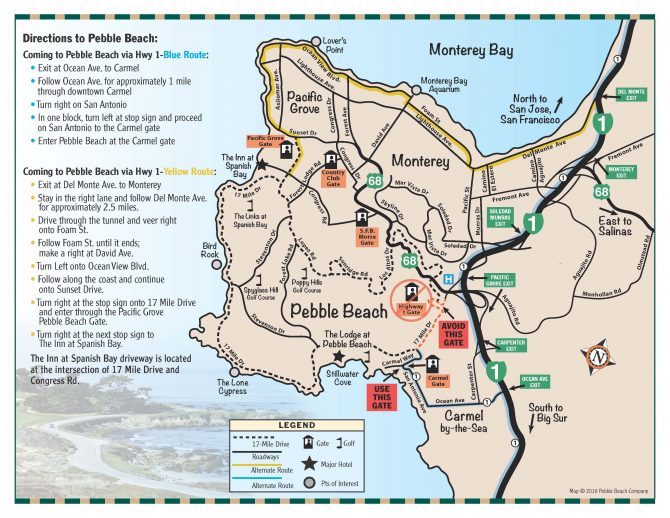 Directions to and from Pebble Beach Resorts