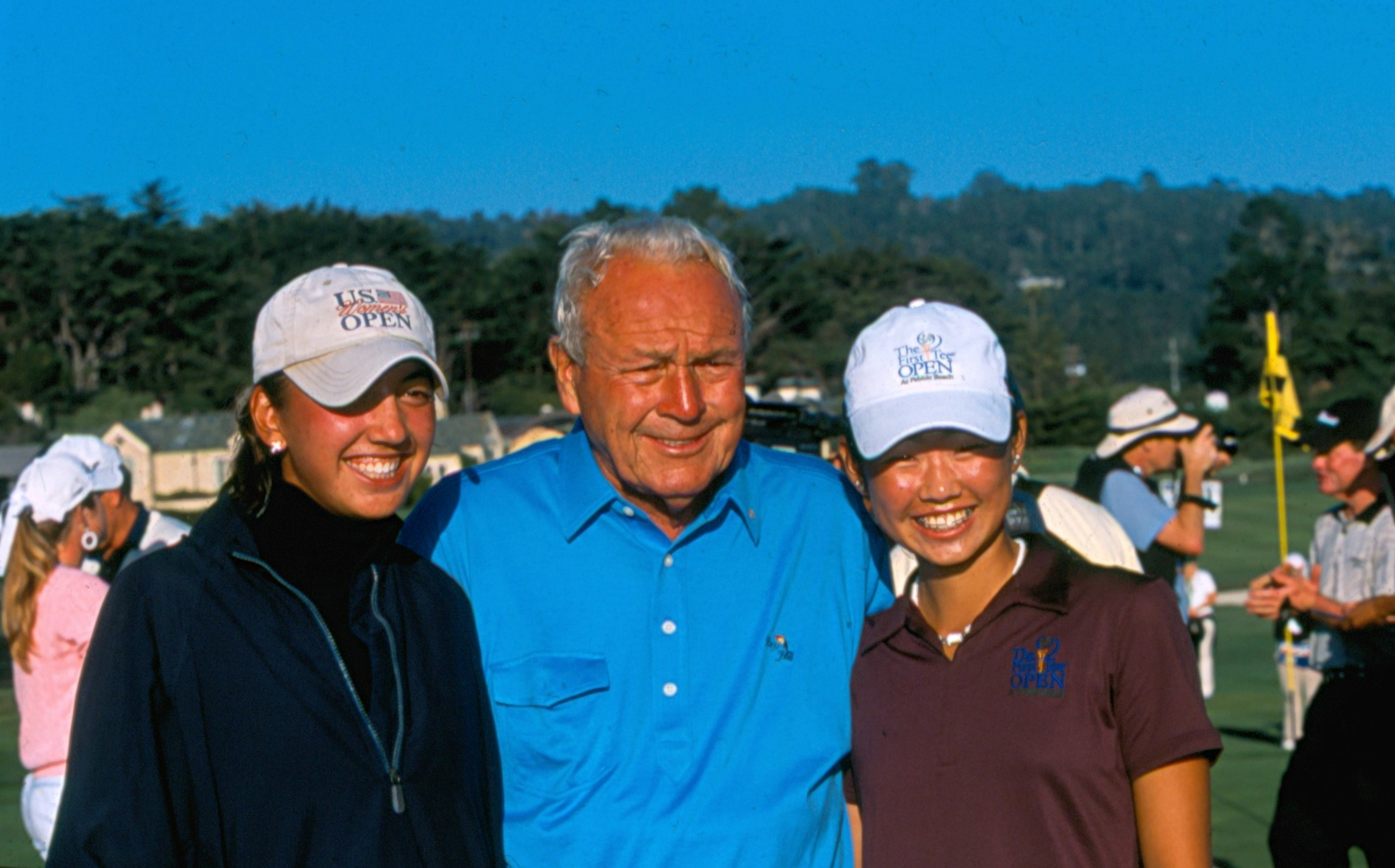 Mina Harigae (right) played in the PURE Insurance Championship Impacting The First Tee as a junior golfer.