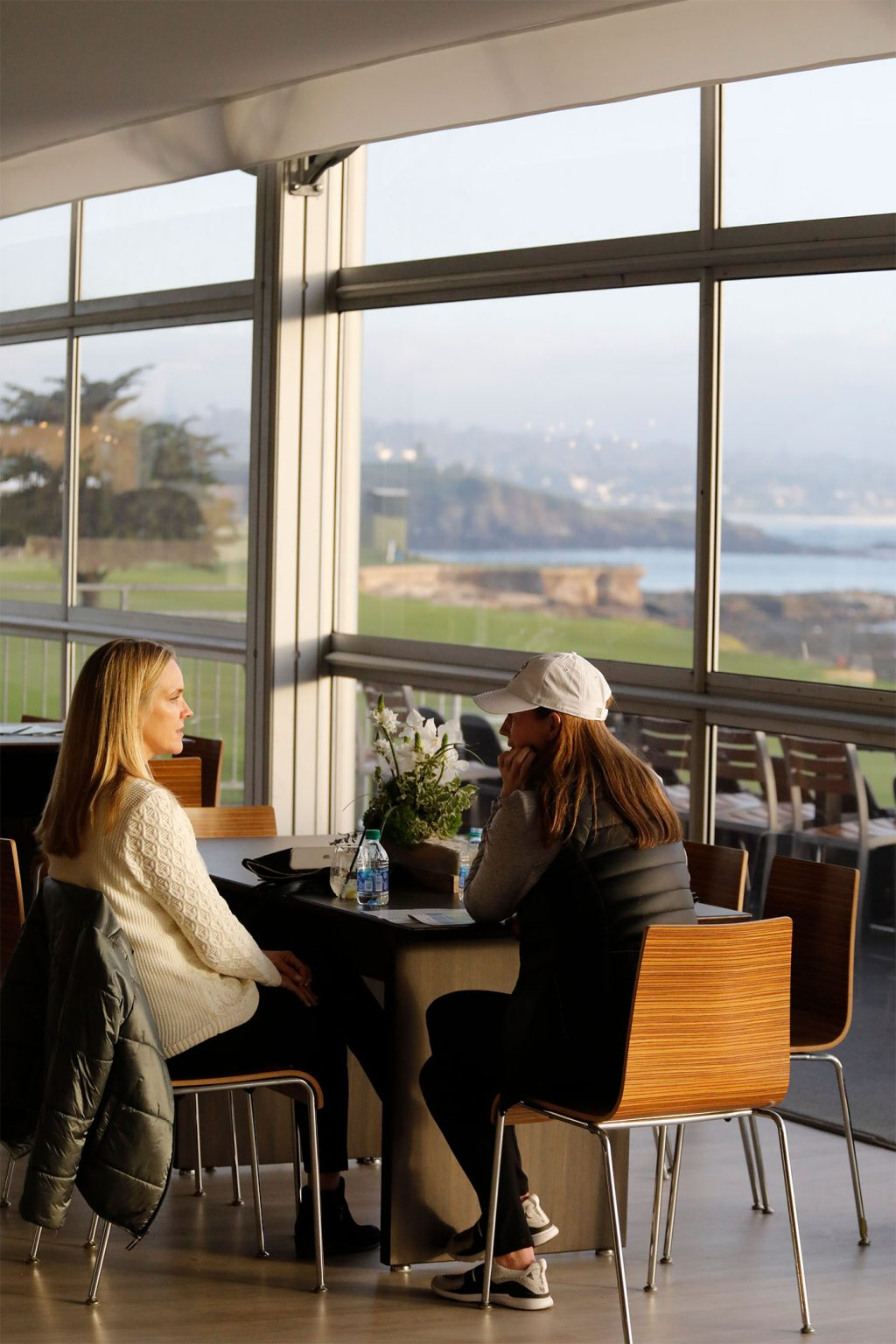 Spectators at the 2020 AT&T Pebble Beach Pro-Am