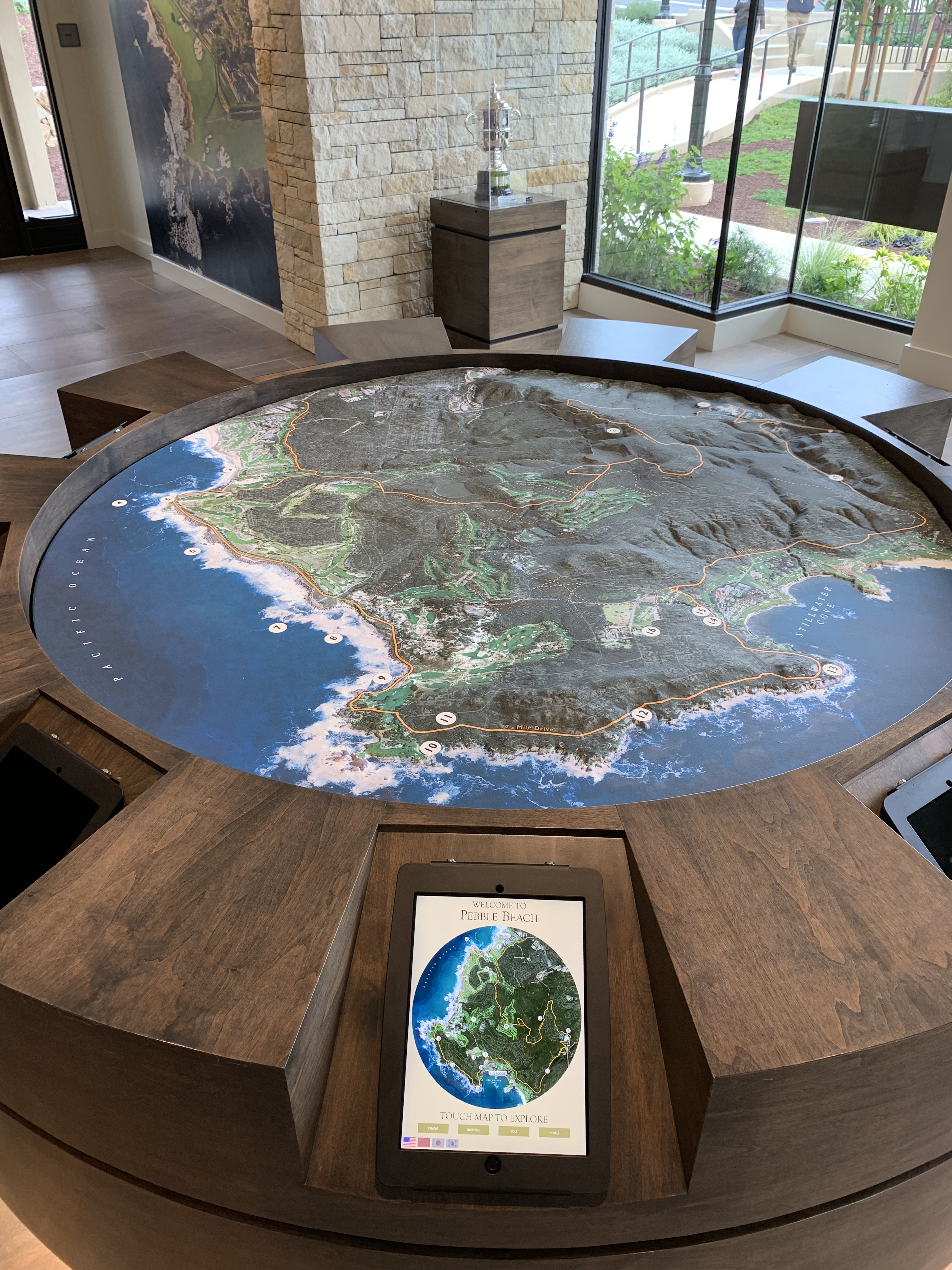 Relief map of 17-Mile Drive