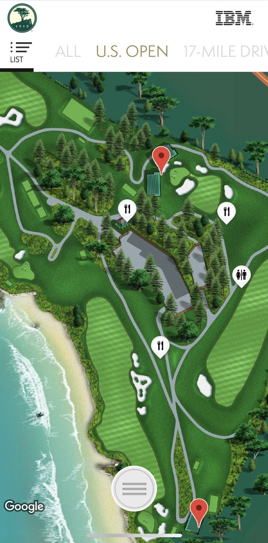 Pebble Beach Us Open Map Where to Eat: a Guide to U.S. Open Concessions