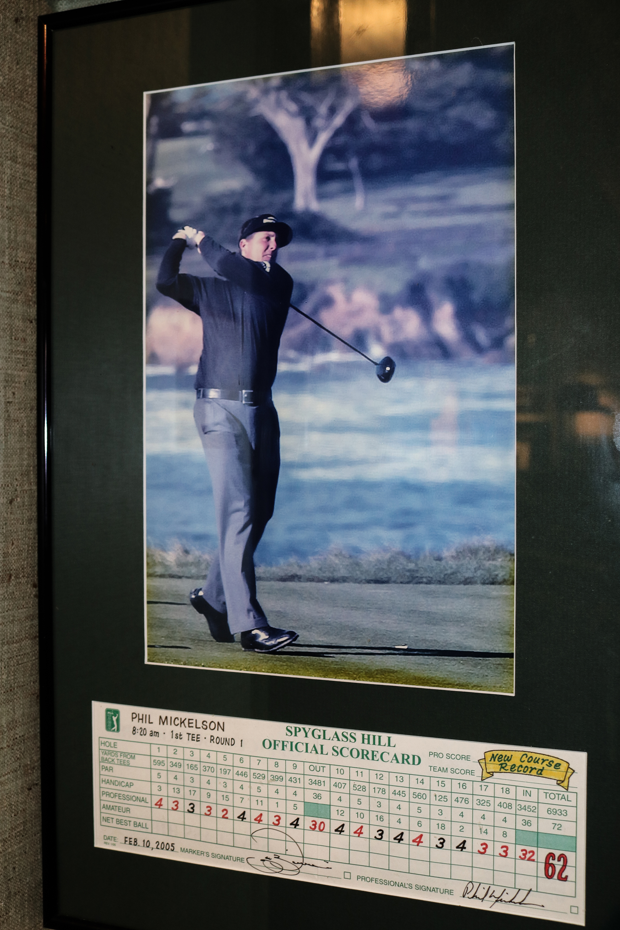 Phil Mickelson Course Record Spyglass Hill
