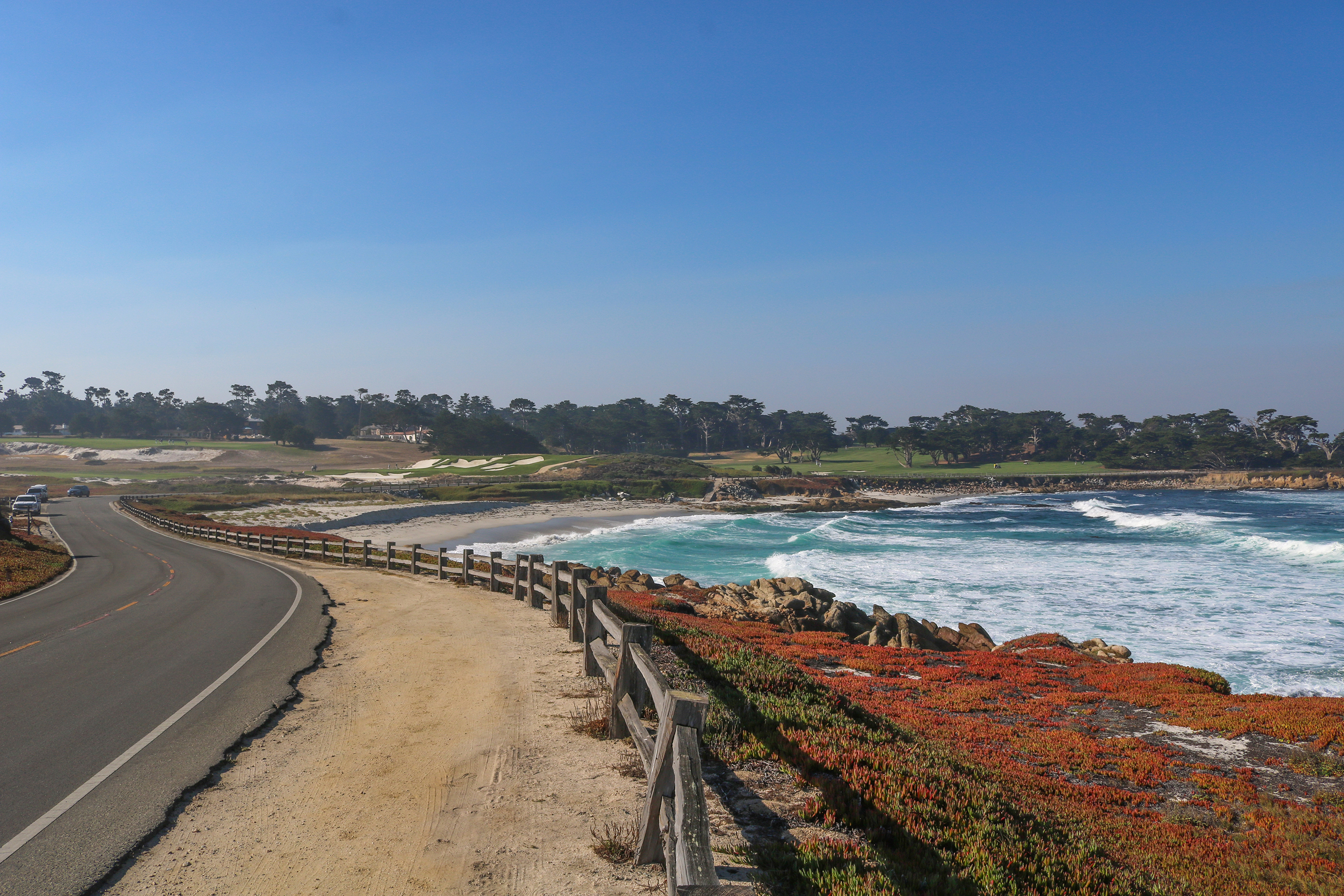 Here S A Look At The Course Which Starts Along Moss Beach Spanish Bay Before Jogging Past Point Joe Bird Rock Fanshell Cypress