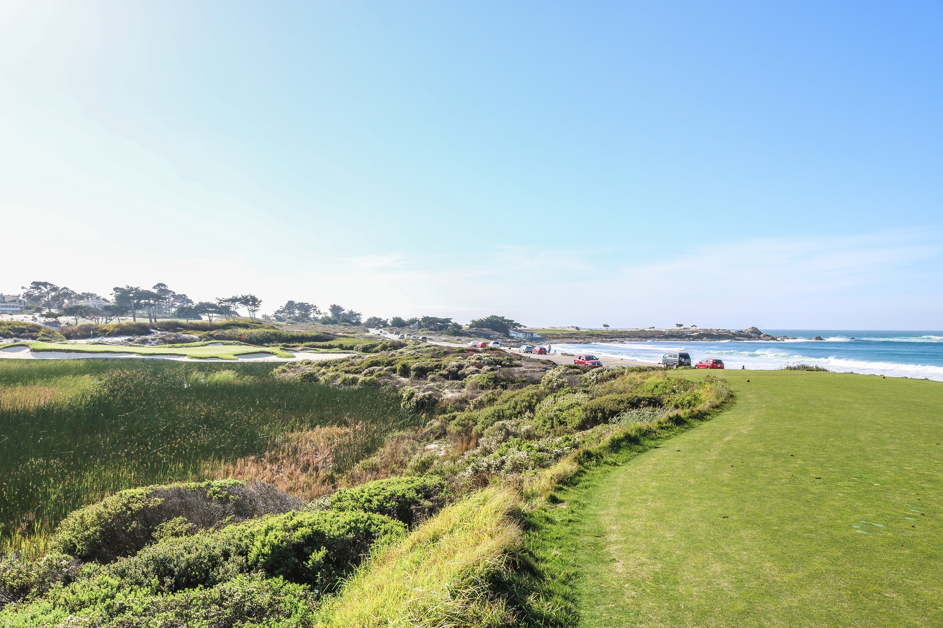 8th tee at Spanish Bay