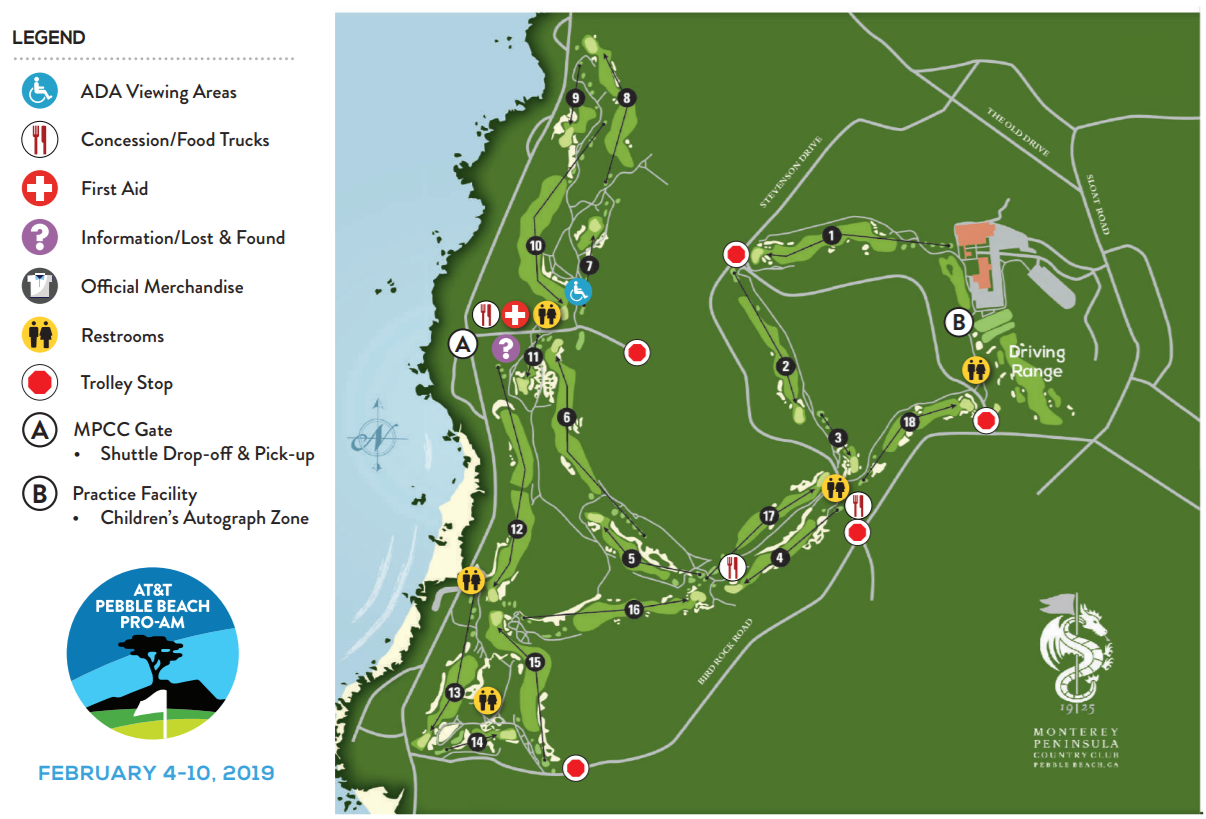 Pebble Beach Map Spectator Guide: A Game Plan to Watch the AT&T in Person