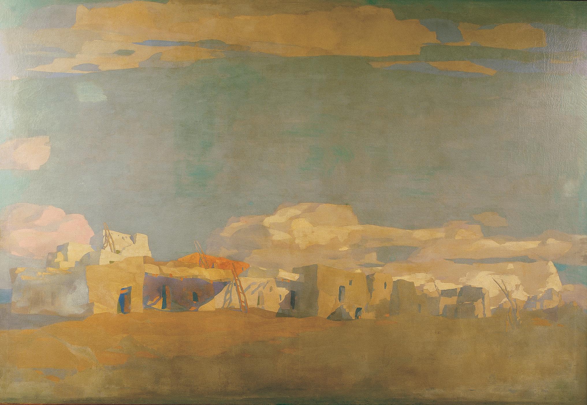 Pueblo painting by McComas