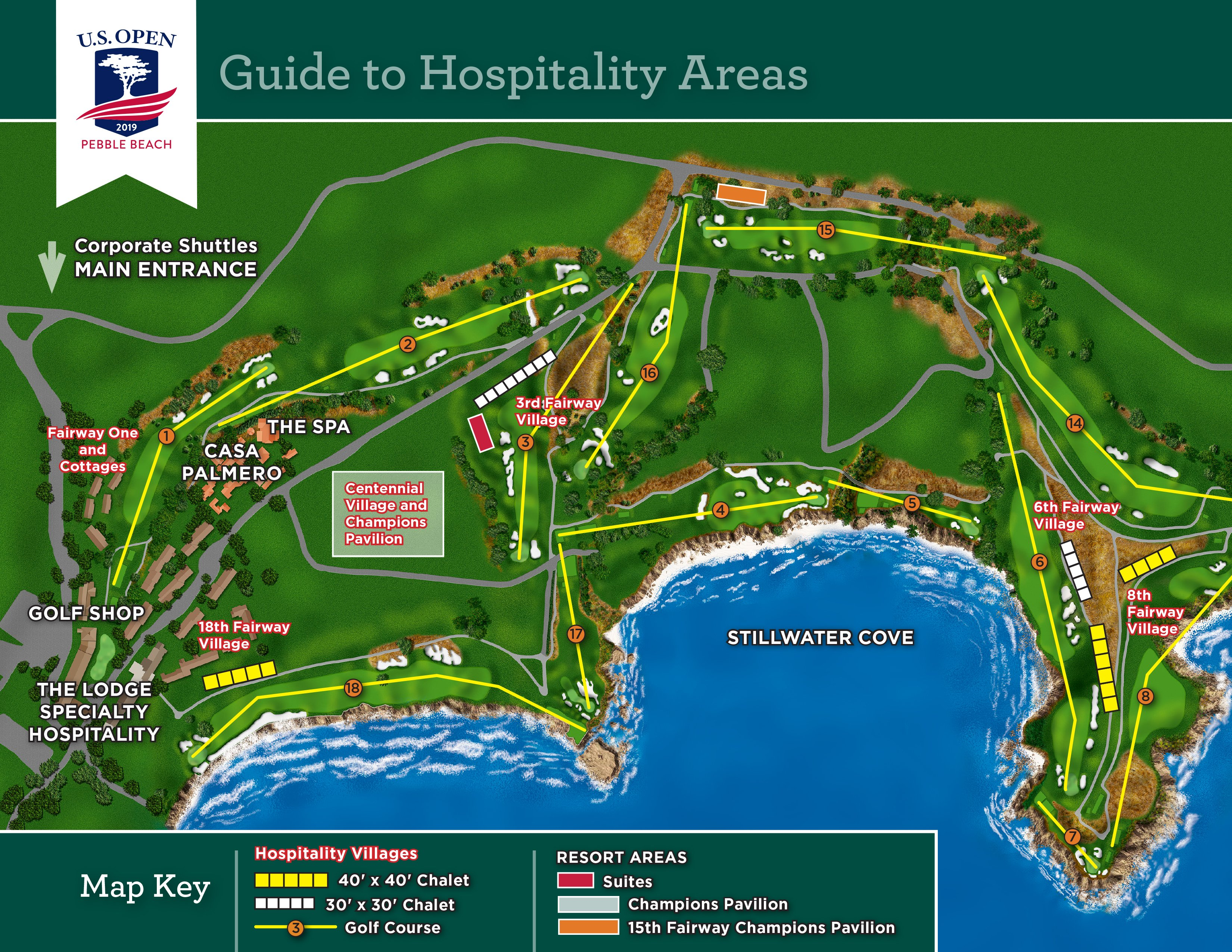 Corporate Hospitality At The 2019 US Open At Pebble Beach - Us Open Course Map