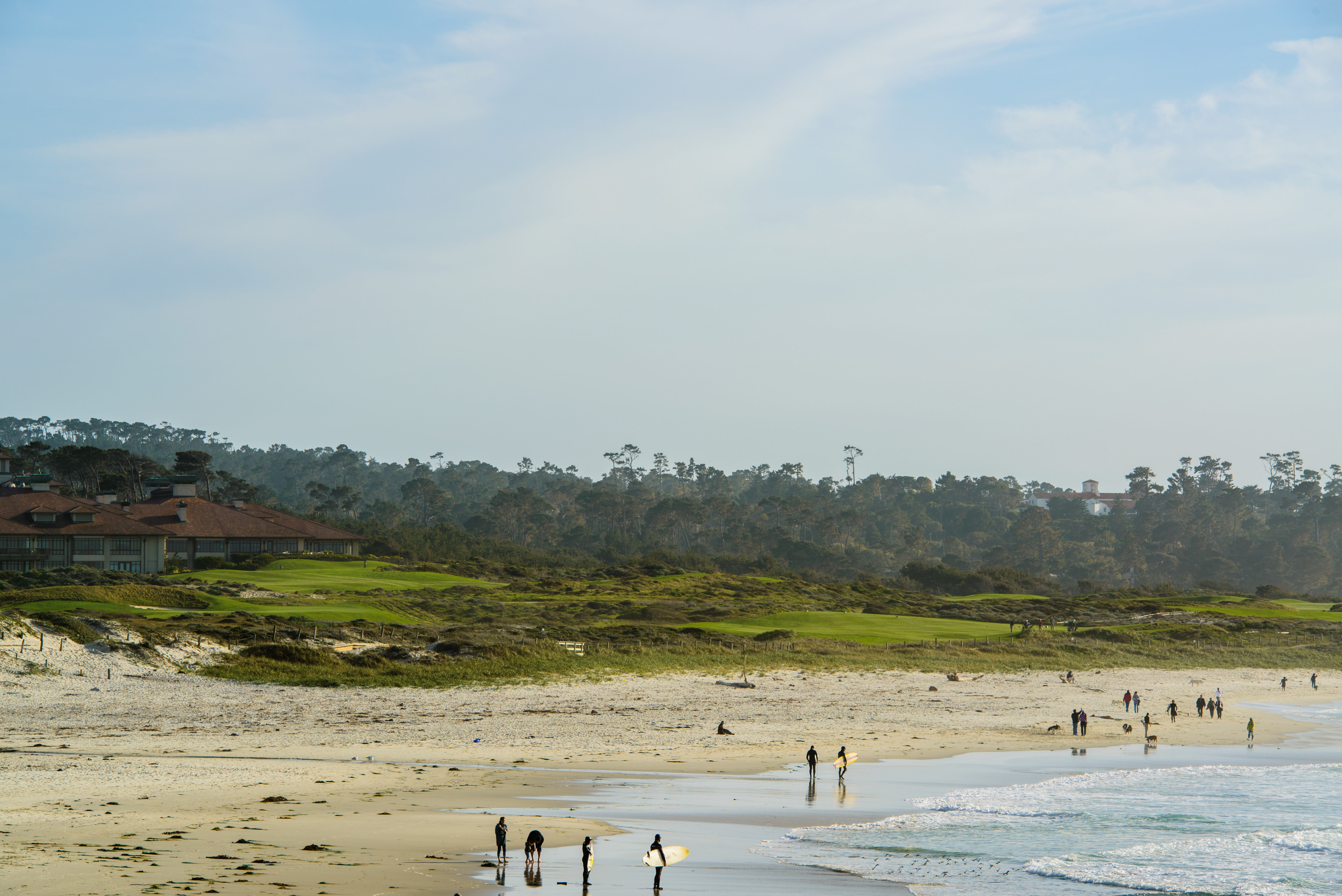 Take A Leisurely Boardwalk Stroll From Back Patio At The Inn Spanish Bay Or Park In Lot Behind 8th Tee Box Links