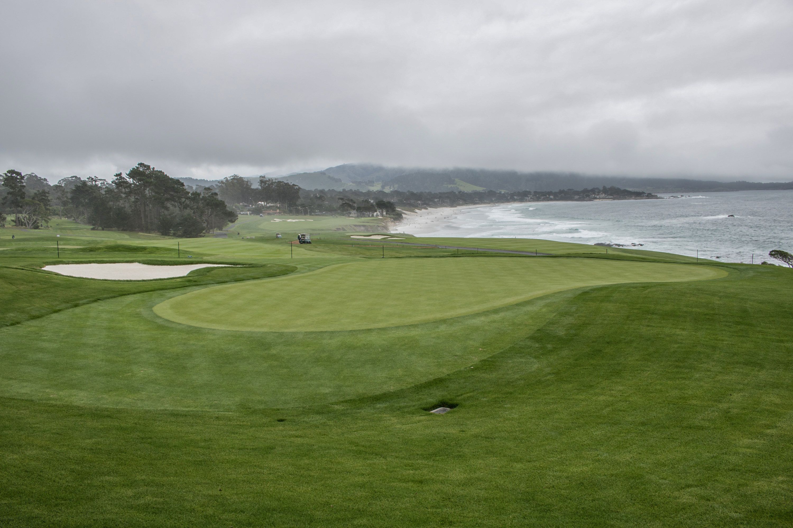 New 13th green Pebble Beach