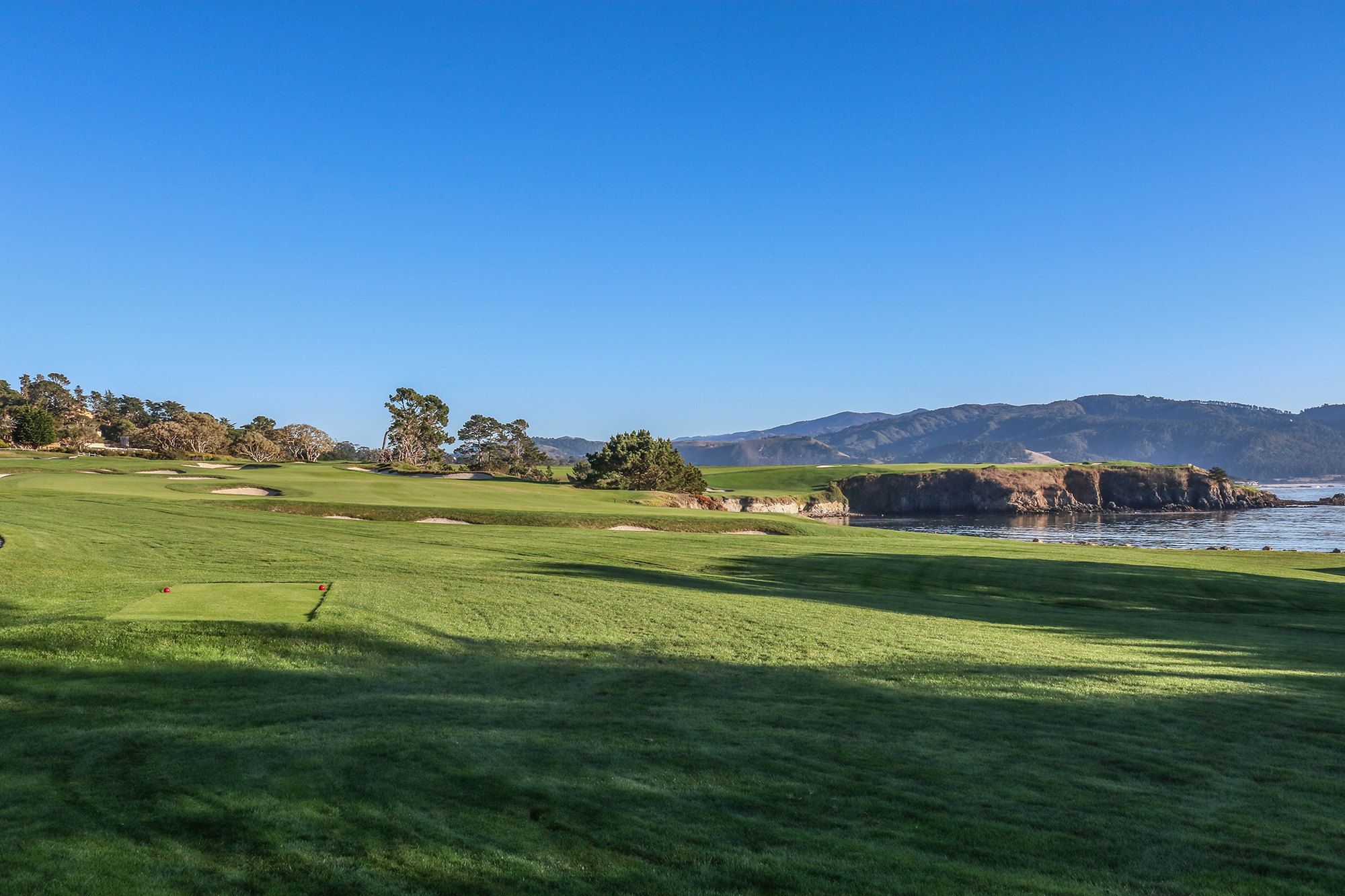 You Catch A Glimpse Of The Ocean In Horizon Above Third Green But Your Welcome To Pebble Beach Moment Arrives After Tee Off Fourth Hole