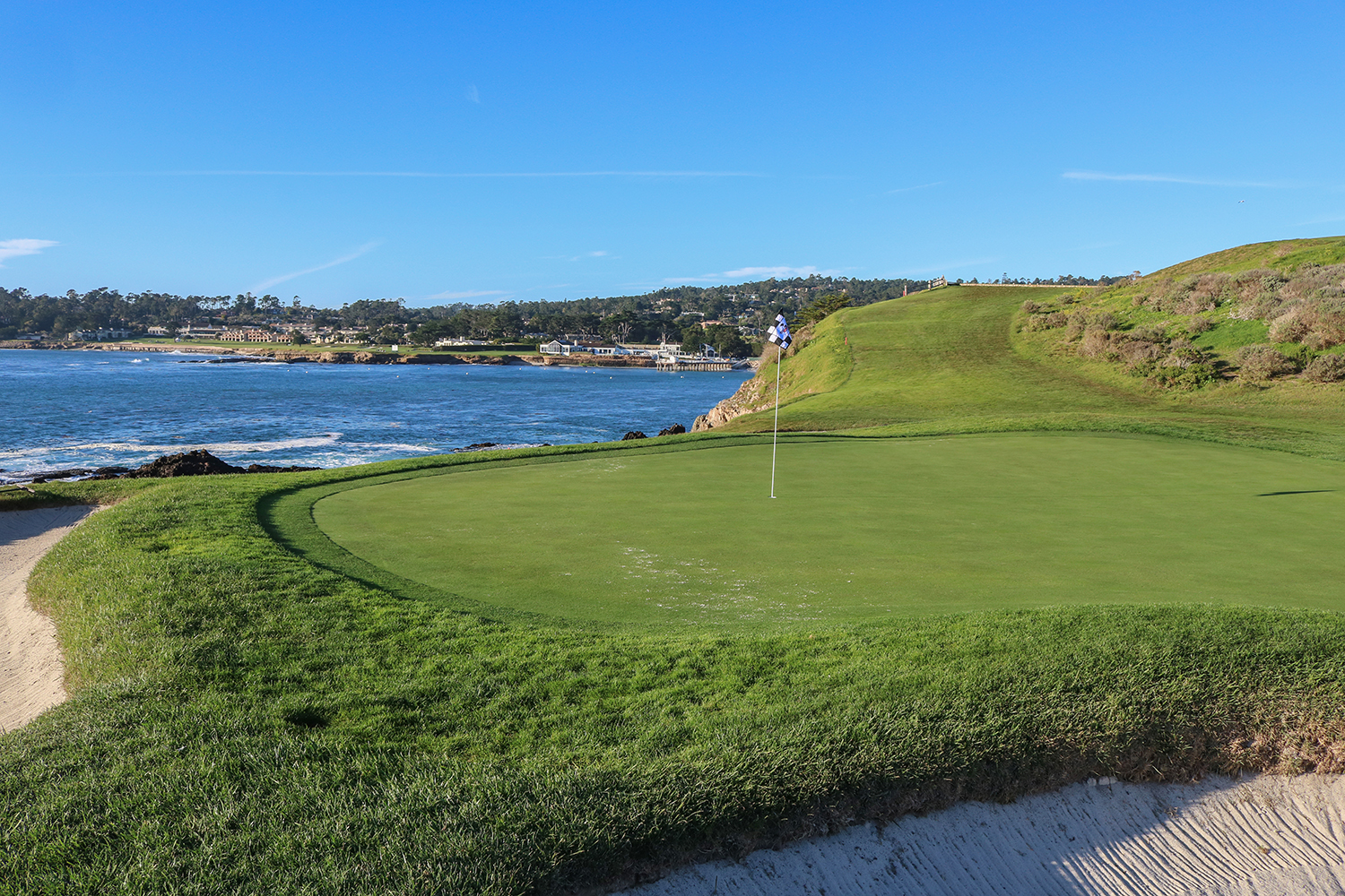 7th Hole At Pebble Beach Looking Up To Green