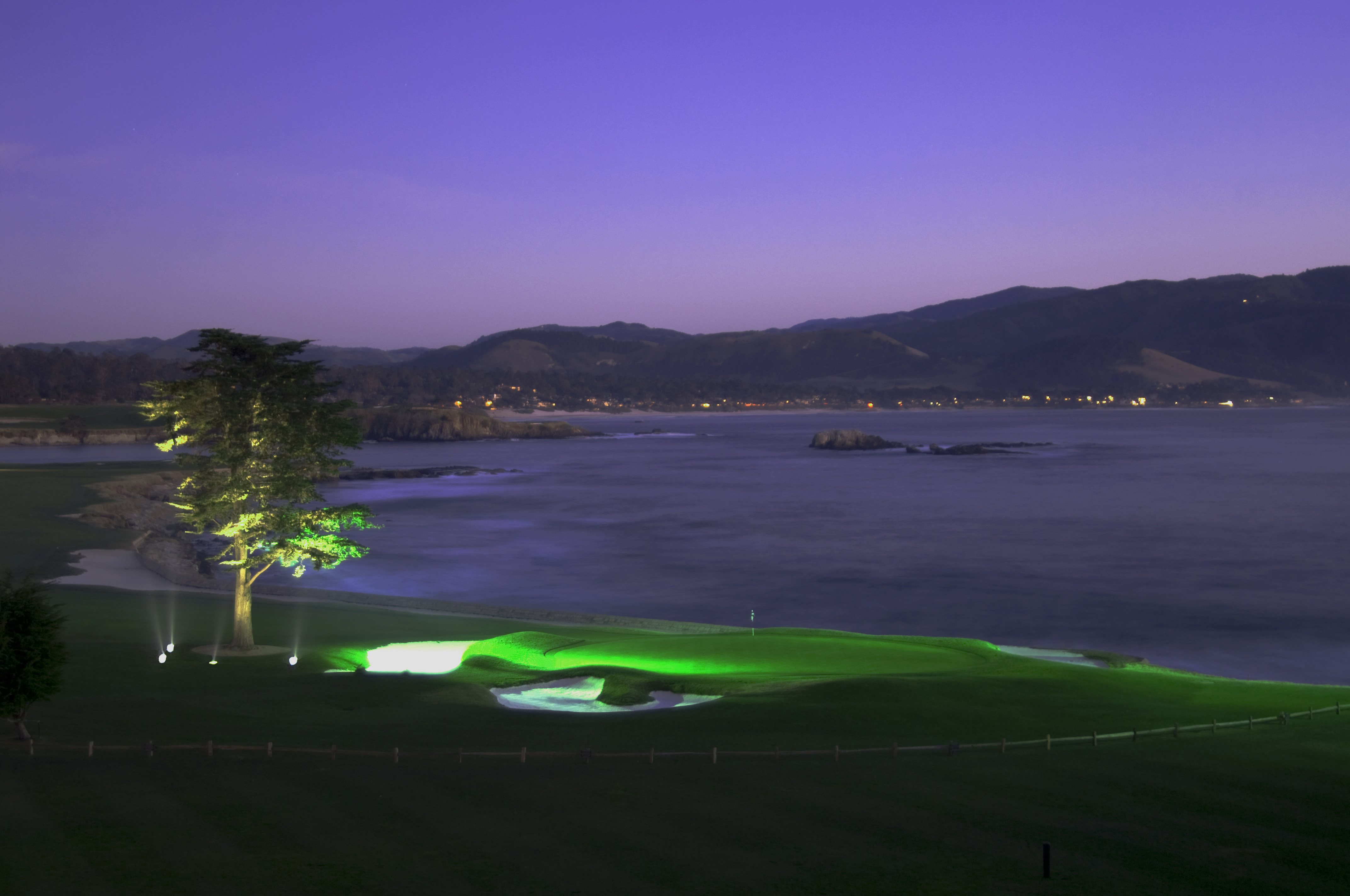 18th Green at Night