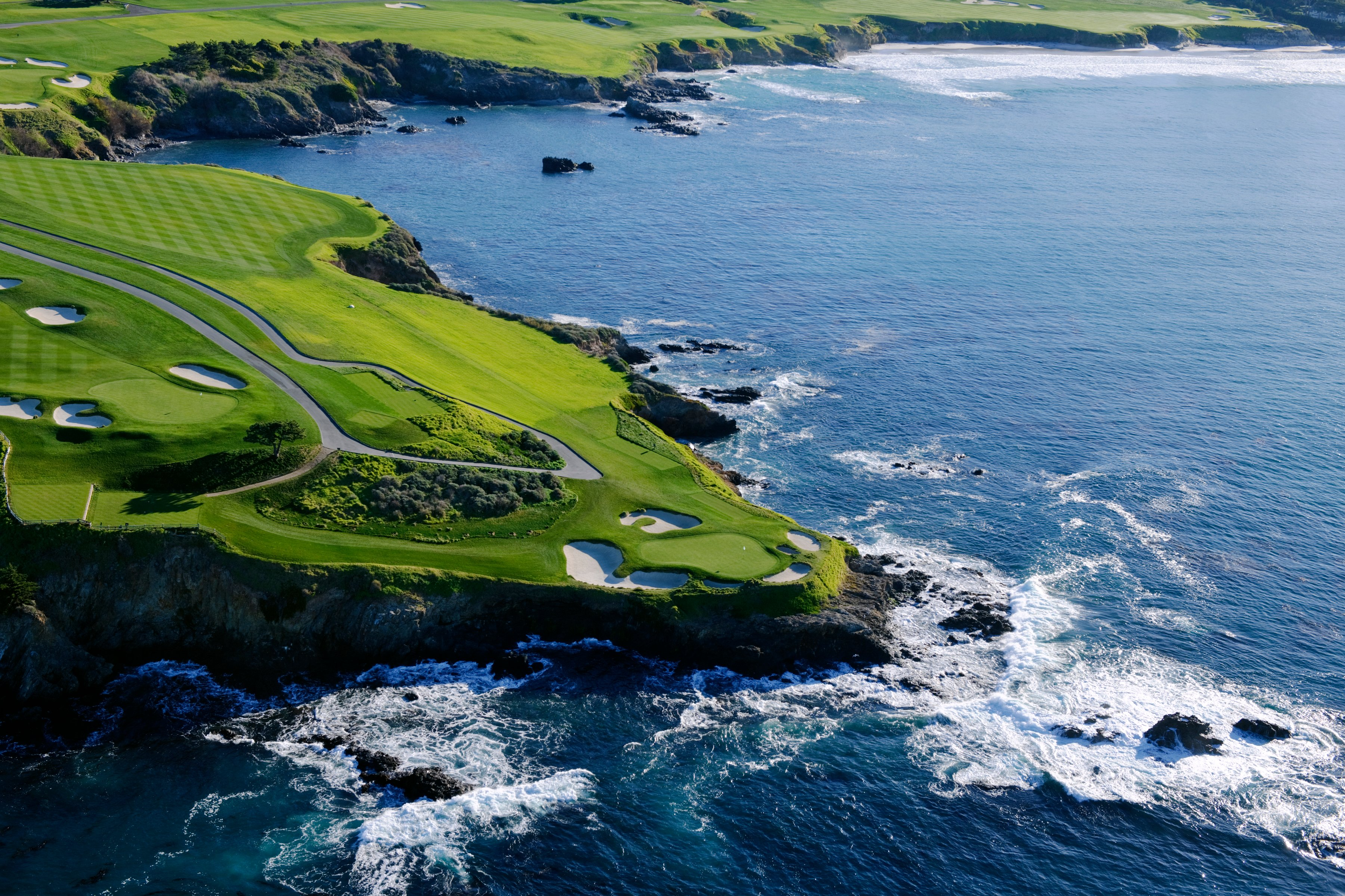 Aerial Pebble Beach Golf Links