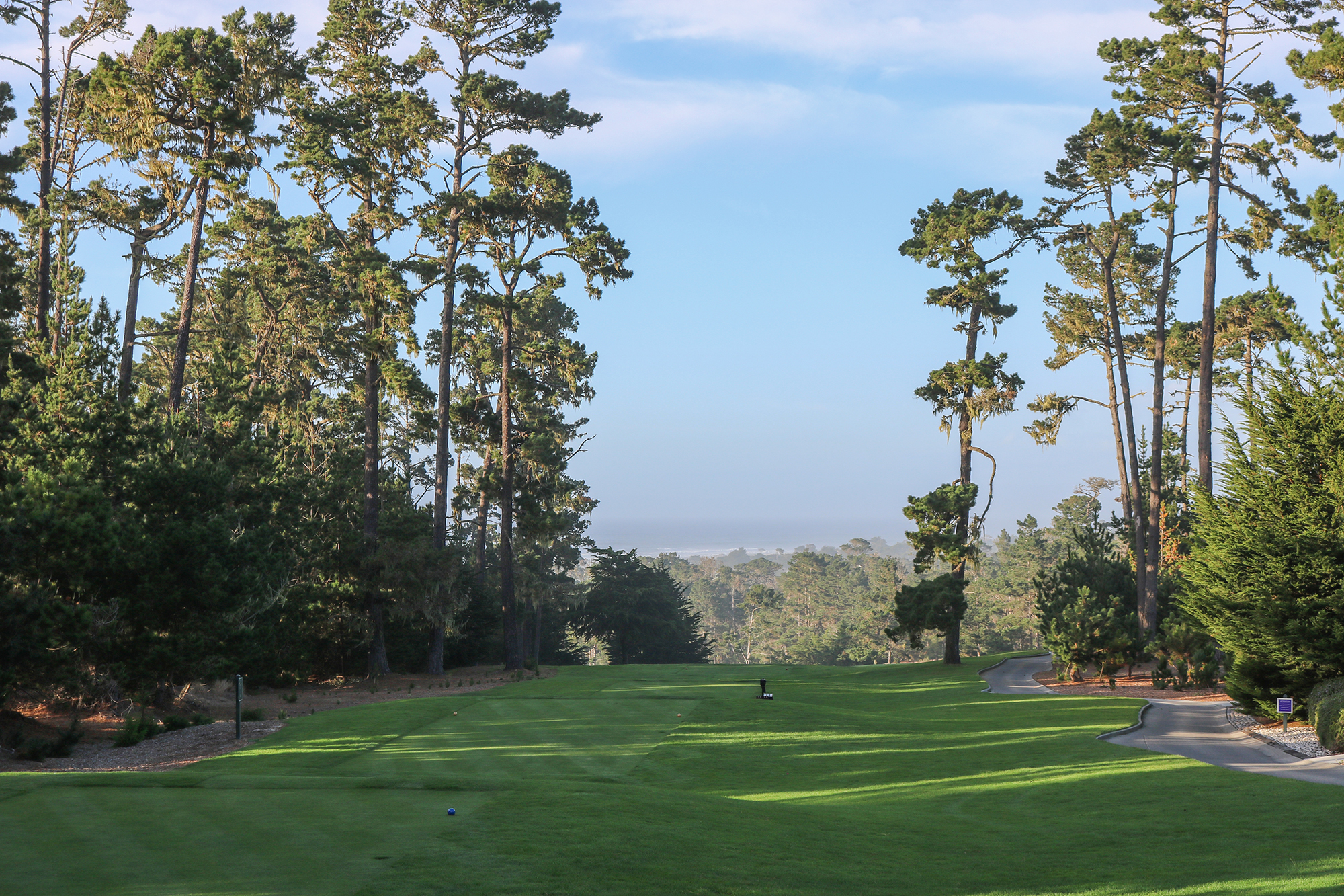 1st tee at Spyglass Hill