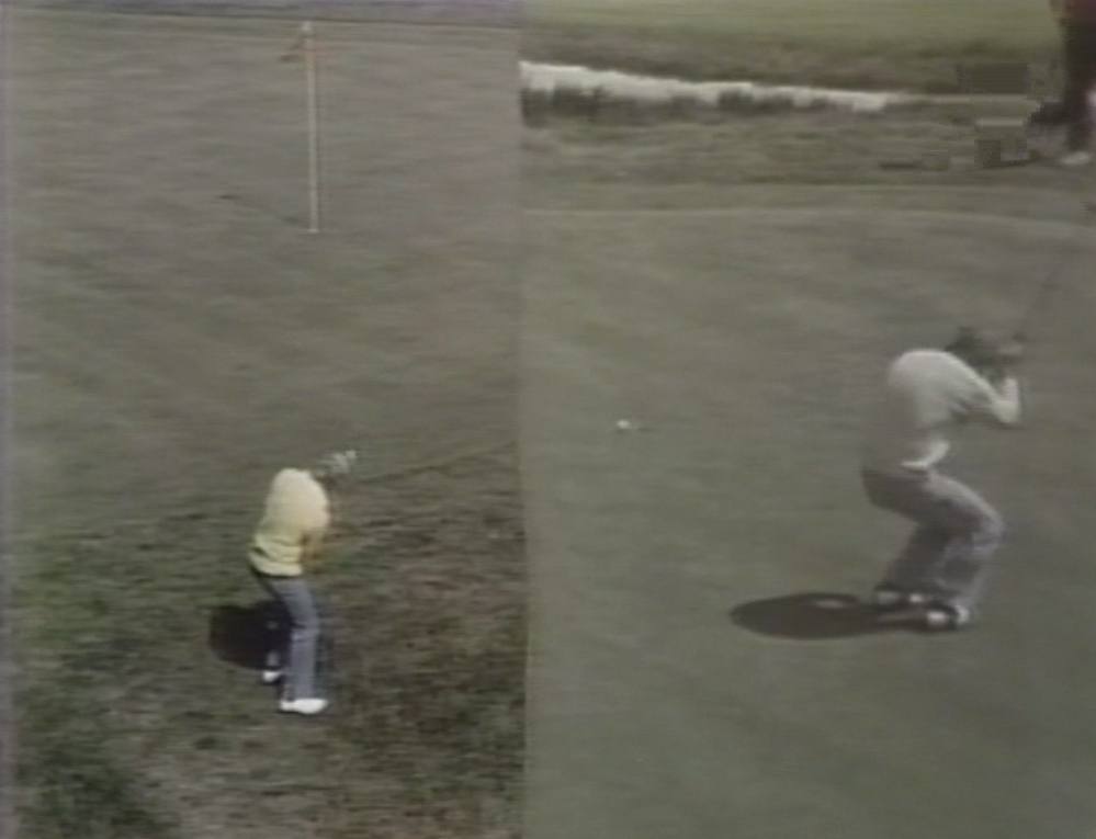 Split screen u.s. open palmer and nicklaus