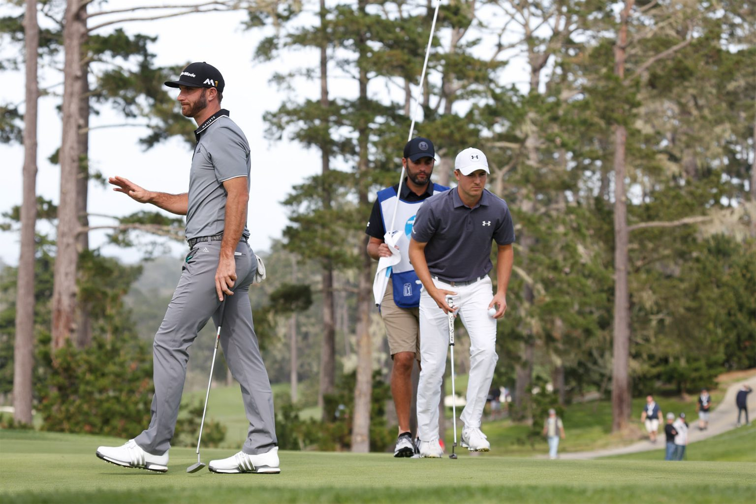 Golfers at the AT&T Pebble Beach Pro Am