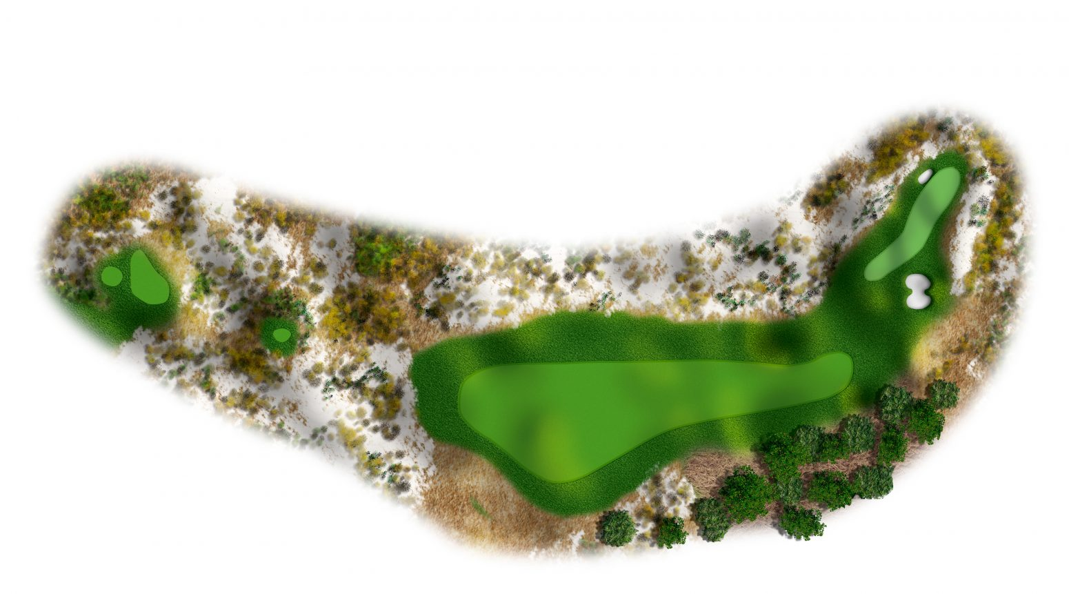 4th hole at Spyglass Hill map