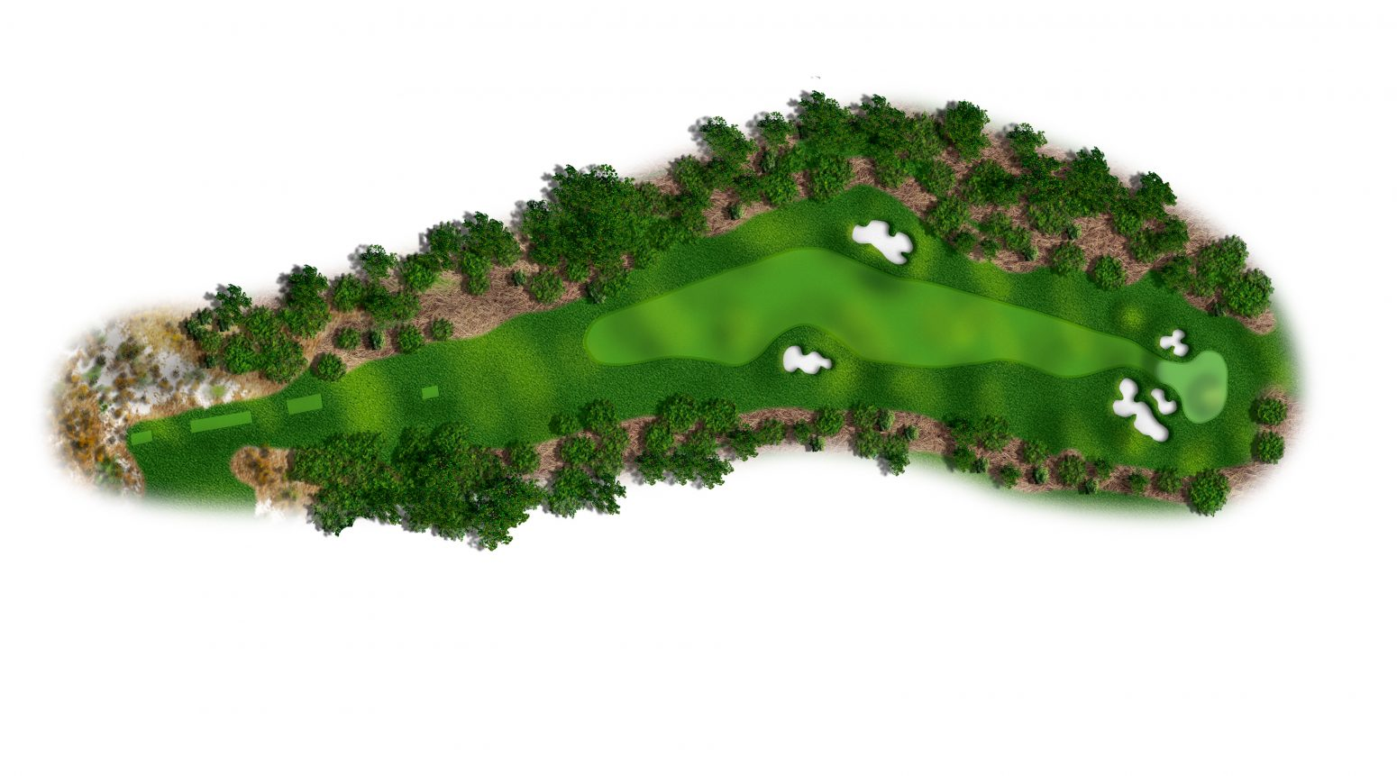 6th hole at Spyglass Hill map
