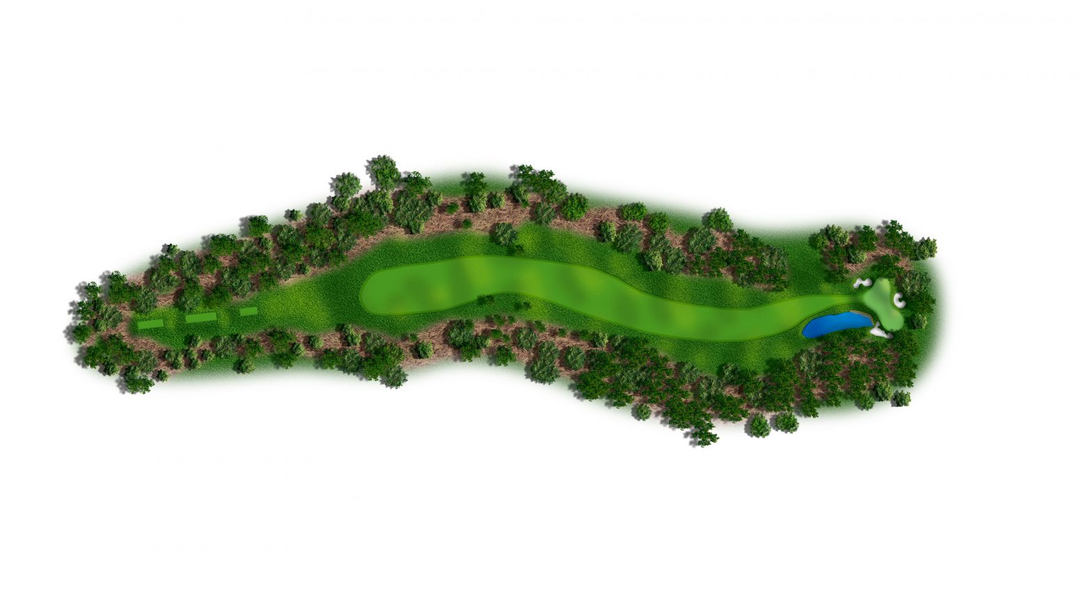 14th hole at Spyglass Hill map
