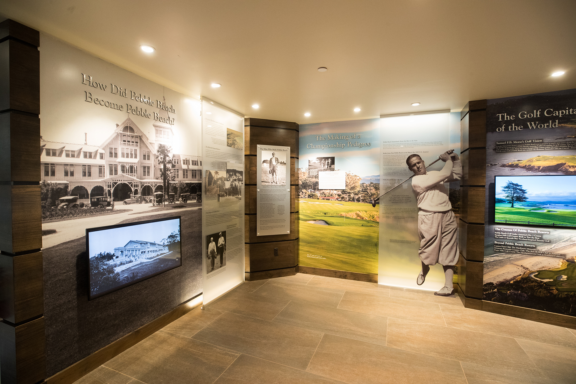 Visitor Center - Making of Pebble Beach Display