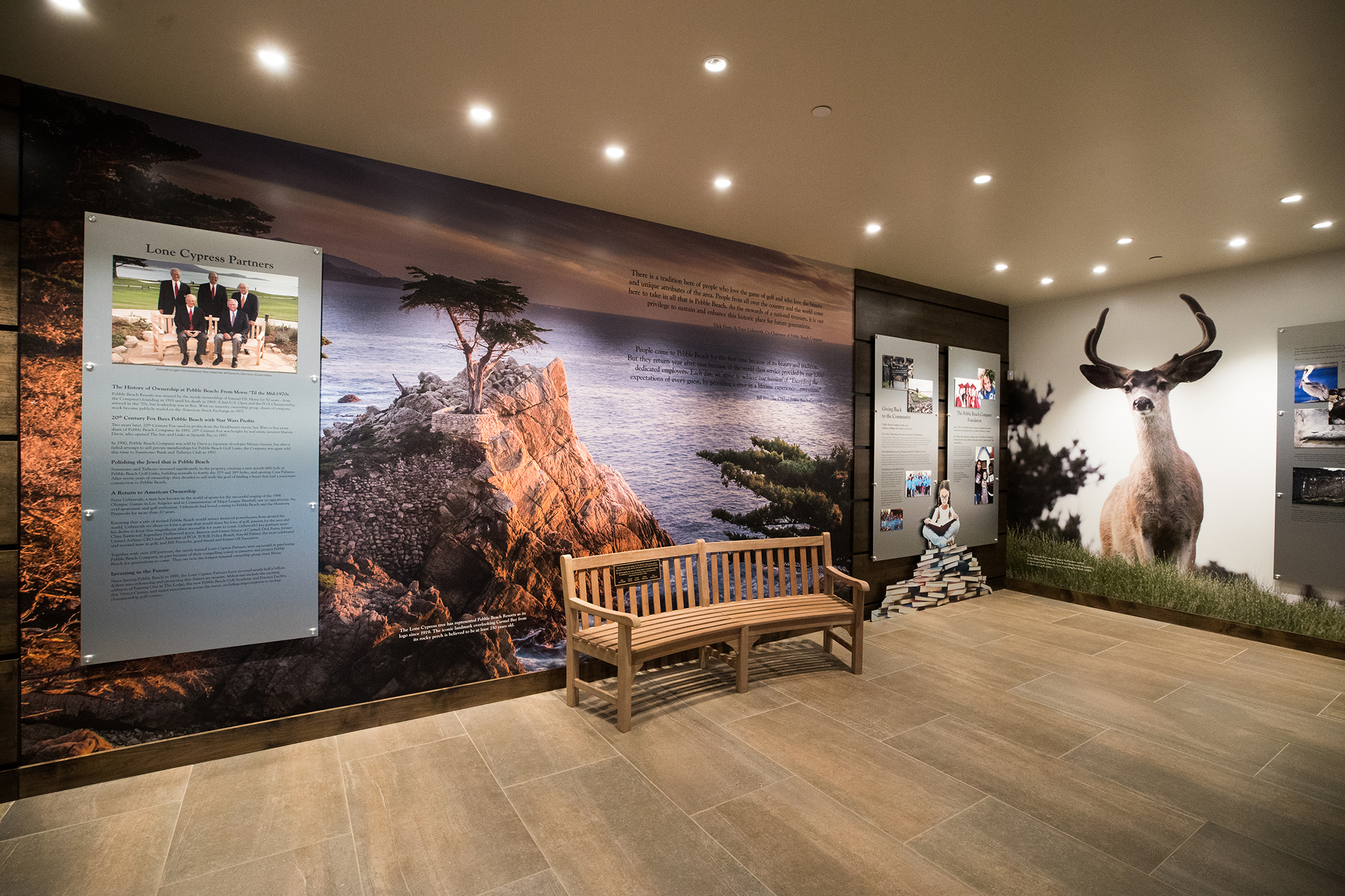 Ownership Wall at the Pebble Beach Visitor Center