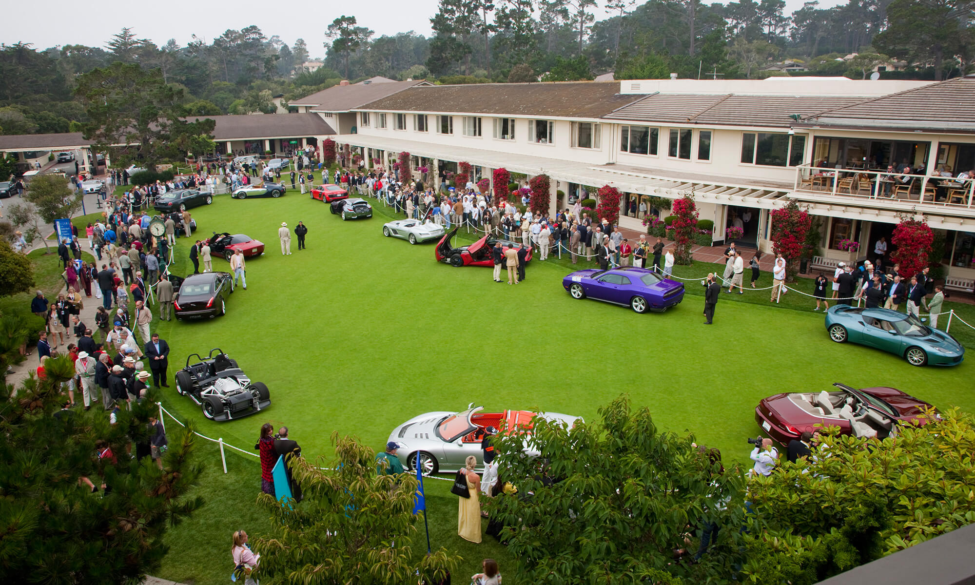 Concours d'Elegance cars on lawn