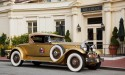 Antique gold car