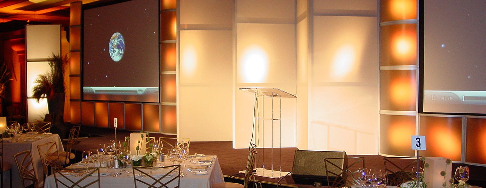 Event space facing podium