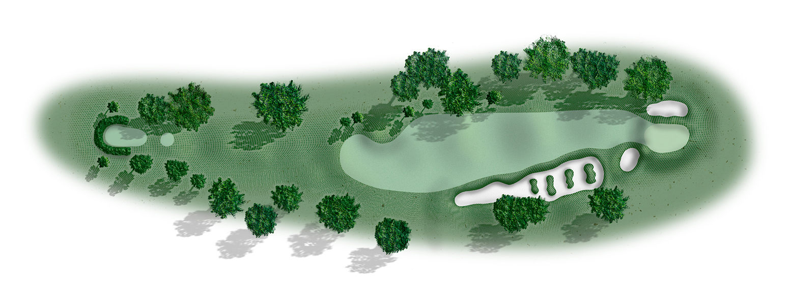 Golf hole 10 map
