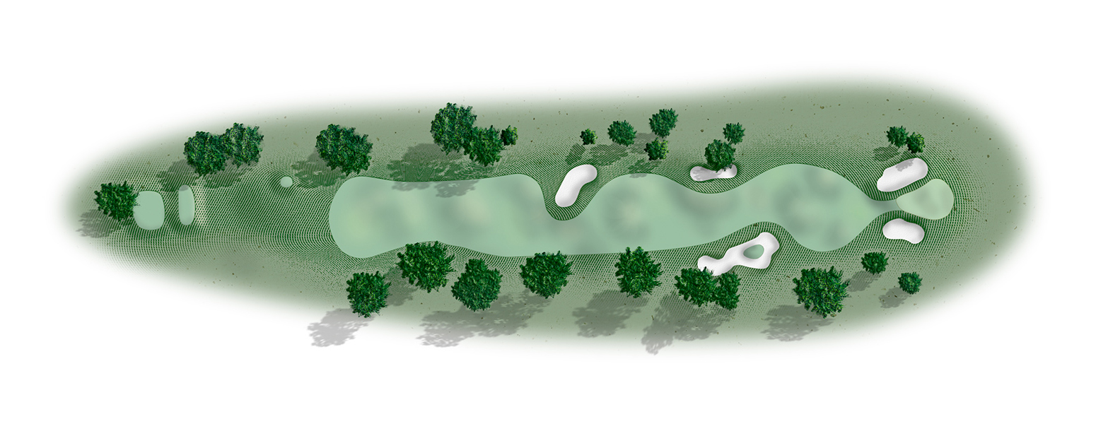 The 11th hole at Del Monte Golf Course map