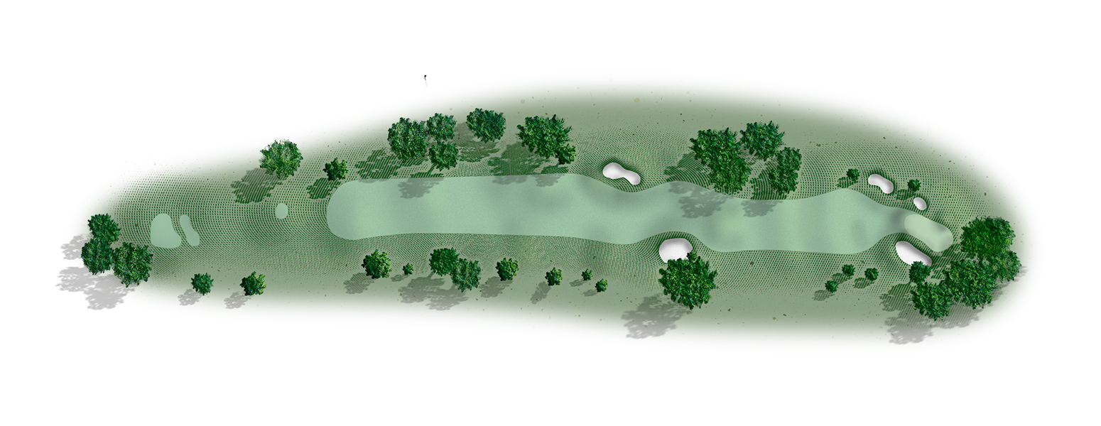 The 16th hole at Del Monte Golf Course map