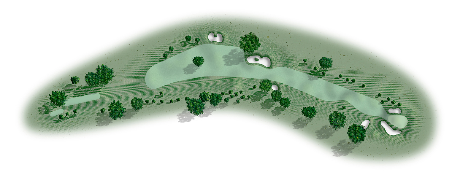 The 17th hole at Del Monte Golf Course map