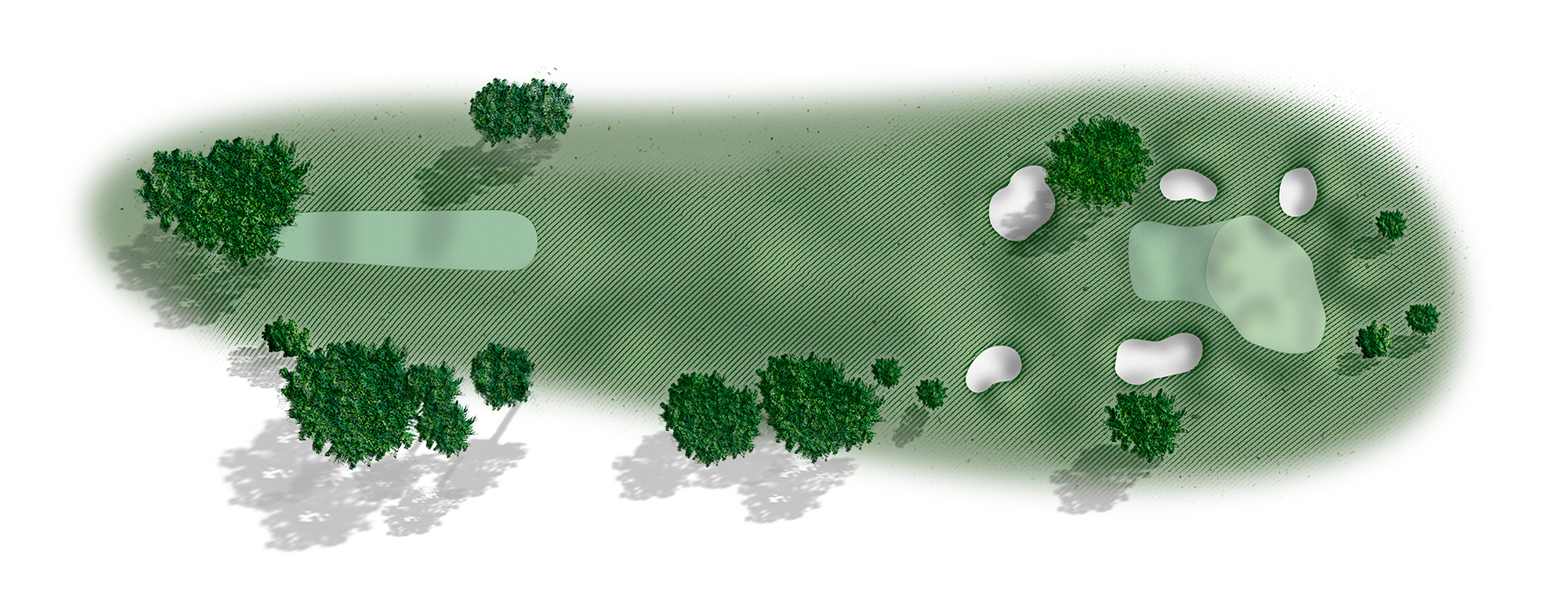 Golf hole 4 map