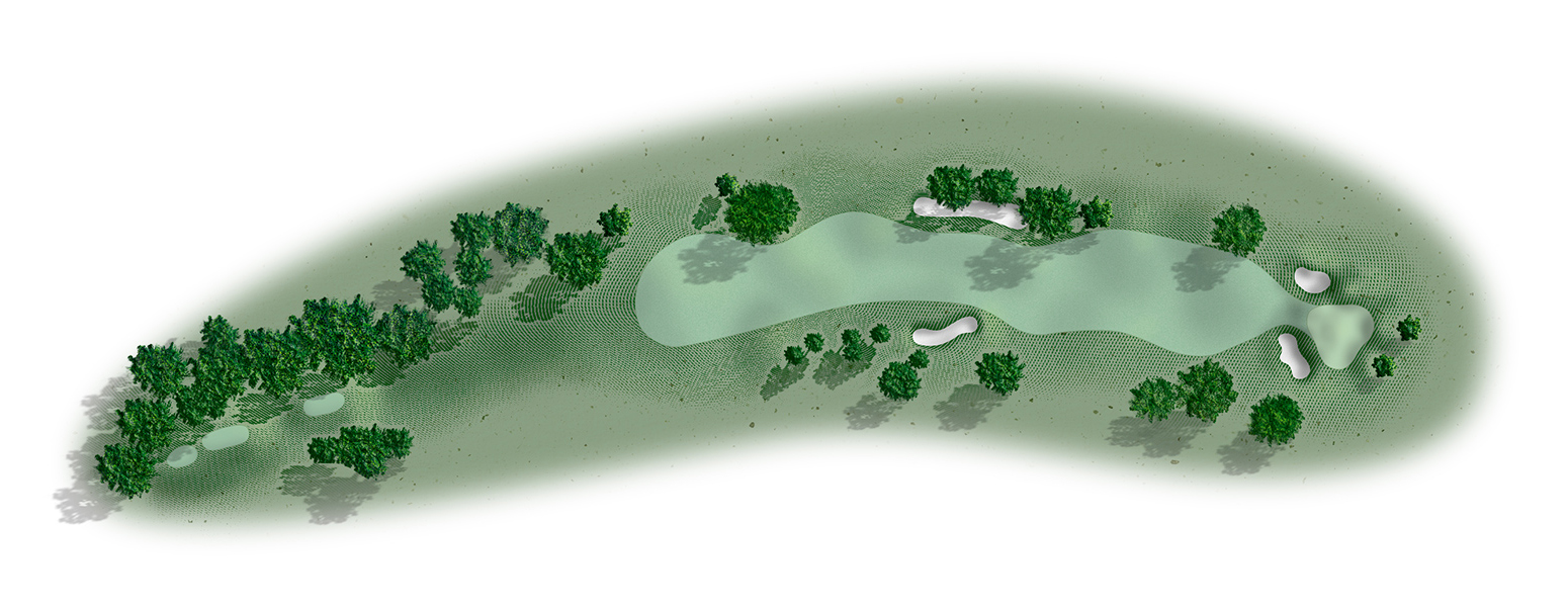 Golf hole 8 map